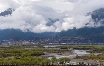 Spring scenery at Yani national wetland recreation area in Nyingchi, Tibet