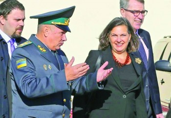 Blinken takes anti-graft communication, older Russia foe to Ukraine